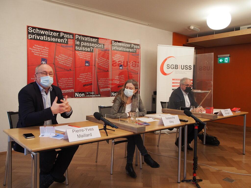 Medienkonferenz «Schweizer Pass privatisieren? Nein am 7. März zum E-ID-Gesetz»